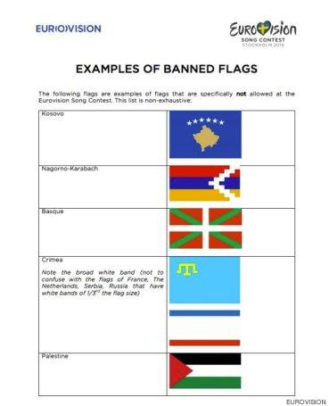 banderas prohibidas